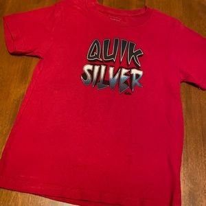 Quicksilver boys size 7 red t shirt
